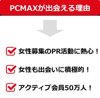 PCMAXで出会える理由