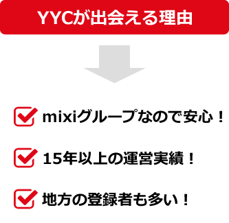 YYC(ワイワイシー)で出会える理由