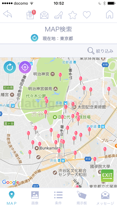 snazee TALK の「MAP検索」